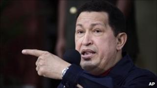 File photo of President Hugo Chavez on 2 June 2011