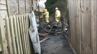 Lenwade fire scene