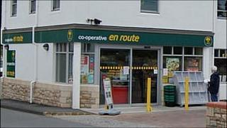 Co-operative En Route shop in St Martin