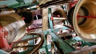 Truro Cathedral's bell chamber