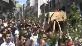 Mobile phone video of recent funeral procession in Jisr al-Shughour