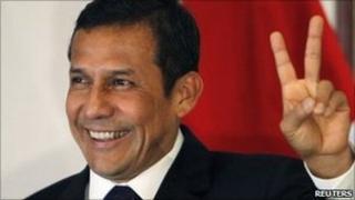 Peru's newly elected President Ollanta Humala
