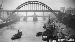 The Tyne Bridge in 1928. Photo: Getty Images