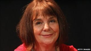 Author Julia Donaldson poses for a photograph before being appointed the new Children's Laureate on 7 June