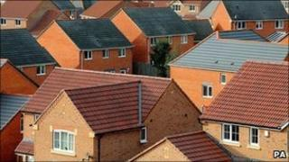 Rooftops in South Derbyshire