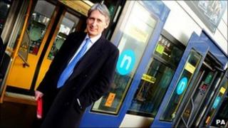 Transport Secretary Philip Hammond in Birmingham at a previous meeting