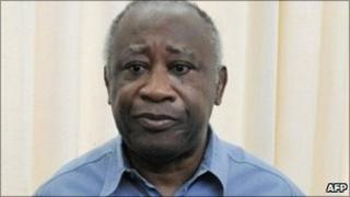 Deposed Ivorian President Laurent Gbagbo (file image from 2 May 2011)