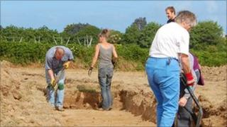Guernsey airport archaeological dig