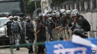 Police in Nepal in May 2011