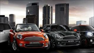 Mini cars on the company's website