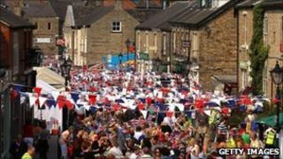 The community of Marple Bridge, Cheshire, enjoy their royal street party in May