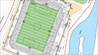 Plans for the new football stadium in Rotherham