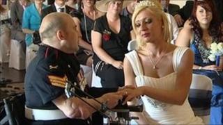 Sgt Rick Clement wedding
