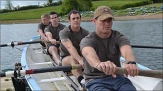 40 Commando Royal Marines training for The Thames Challenge