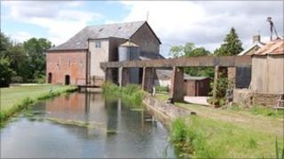 Clapton Mill on the River Axe near Crewkerne