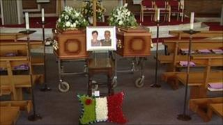 The Massaro's coffins