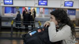 A passenger is stranded in Buenos Aires domestic airport (image from 7 June 2011)