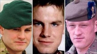 L/Cpl Martin Gill, Rifleman Martin Lamb, Cpl Michael Pike
