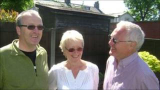 The Reverend Tim Thorpe, Jean Robinson and Stuart Robinson (l-r)