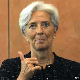 Christine Lagarde in Beijing. Photo: 9 June 2011