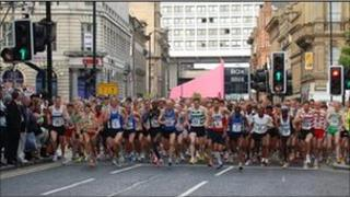 The start line at The Blaydon Races in 2008
