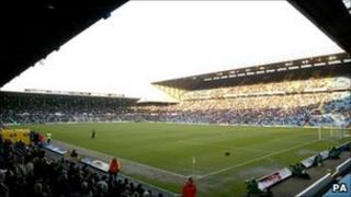 Elland Road on match day