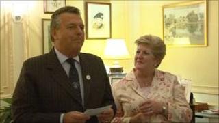 Lieutenant General Sir Andrew Ridgeway and Lady Ridgway