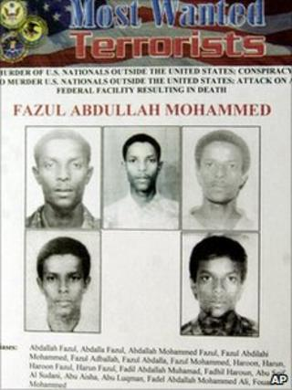 Wanted poster for Fazul Abdullah Mohammed