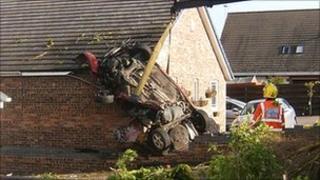 Crashed car (pic courtesy of Stephen Scott)