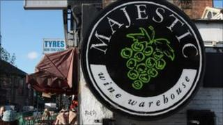 Majestic Wines sign