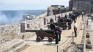 The 21 gun salute in Guernsey (generic)