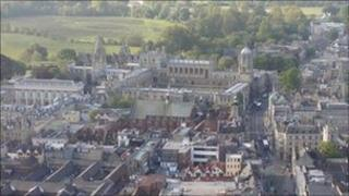 Oxford from the air