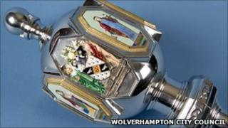Bilston mayoral mace head