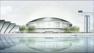 An artist's impression of the Hydro arena at the SECC