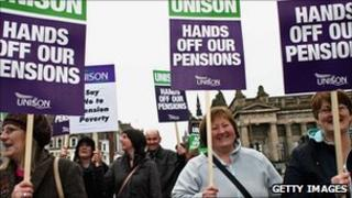 2006 pension protest Edinburgh