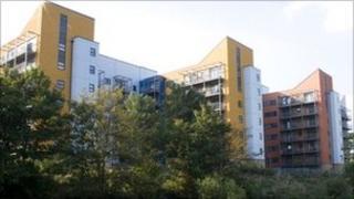 New housing estate in east London