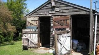 Jon Earl's shed
