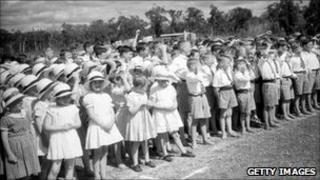 Children at Fairbridge Farm School in 1934
