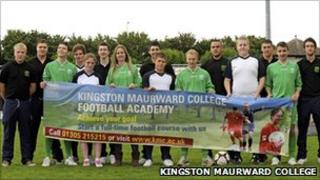 Kingston Maurward College football students