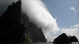 Sea cliffs on Boreray. Image: RCAHMS
