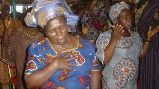 Nigerian women at a church service (archive shot)