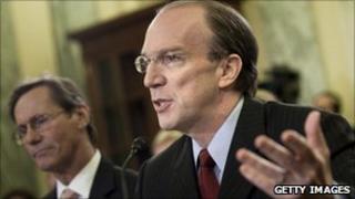 Stuart Bowen speaking on Capitol Hill in 2010