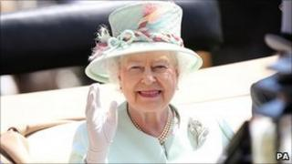 The Queen at Ascot on 14 June, 2011