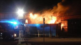 Maxwelltown High School fire