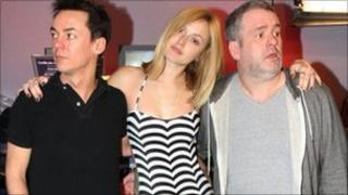 Comedy Dave, Fearne Cotton and Chris Moyles
