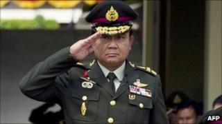 Thai armed forces chief General Prayuth Chan-O-Cha, 30 September 2010, on handover of role to him, Bkk army hq