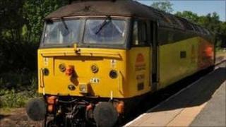 Coal-hauling engine on trial run