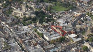 Aerial view St Aldate St and Northgate St