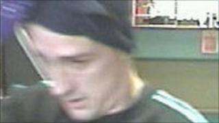 CCTV image of robber