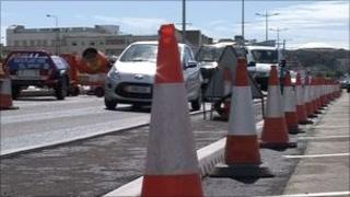 Roadworks in Jersey
